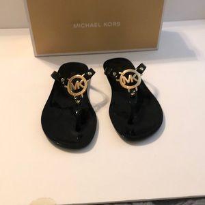 (Michael Kors) jelly black sandals shoes
